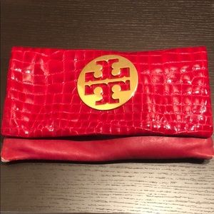 Red Tory Burch Clutch